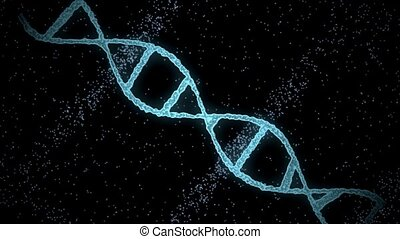 virtual dna molecule over black background - science,...