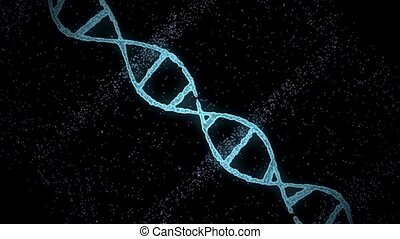 virtual dna molecule over black background