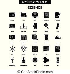 Science Glyph Vector Icon set