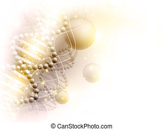 science golden background with DNA theme and copyspace for...