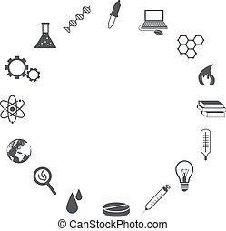 science, icônes