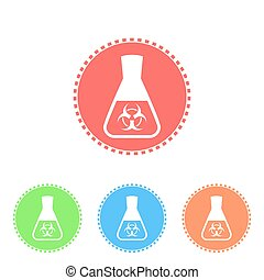 Science icon of conical flask