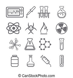 Science Icons black Series