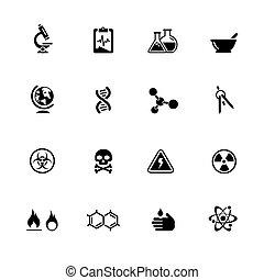 Science Icons // Black Series