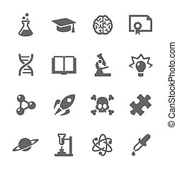 Science Icons - Simple set of Science related vector icons...