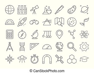 Science icons set.