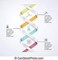 Science infographic - DNA banner, science infographics....