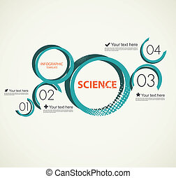 Science infographic with circles