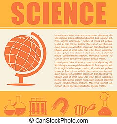 Science infographic with symbols and text
