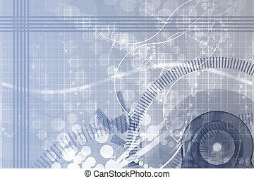 science, ingénierie, résumé, fond, mécanique