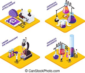 Science Isometric Compositions Set