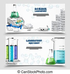 Science Lab Equipment Banners