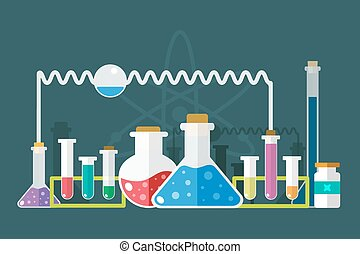 Science lab icons isolated set - Science lab icons isolated...