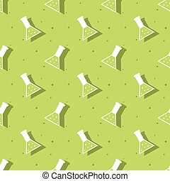 Science Laboratory Conical Flask Seamless Background Pattern
