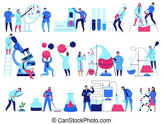Science Laboratory Icons Set