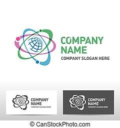 Science logo design. Vector illustration