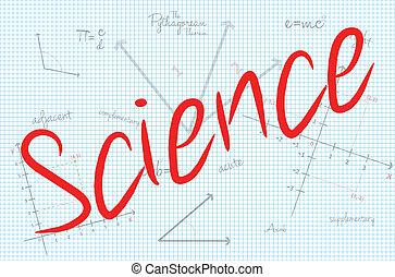 science, mot, mathématiques