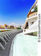 Science Museum (El Museu de les Ciencies Principe Felipe) - City of Arts and Sciences. Valencia