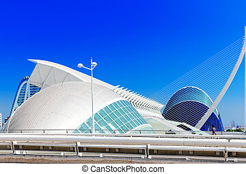 Science Museum (El Museu de les Ciencies Principe Felipe) - City of Arts and Sciences. Valencia