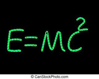 Science neon physics - Science neon quoting einstein...
