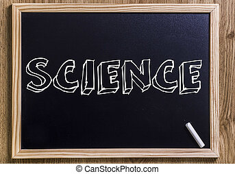 SCIENCE - New chalkboard with 3D outlined text