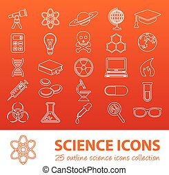 science outline icons
