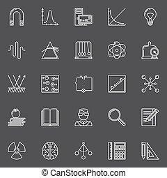 science, physique, icônes