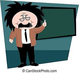 Science professor - A cartoon image an einstein-like...