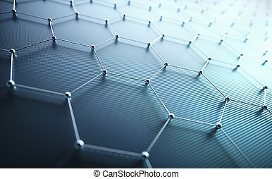 science, résumé, connexion, atomique, hexagonal, technologie