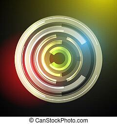science, résumé, moderne, vecteur, fond, techno, géométrique, cercle