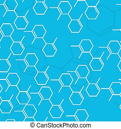 Science seamless background. Vector illustration