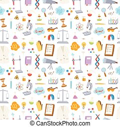 Science seamless pattern vector illustration.