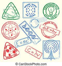 Science Stamps Set