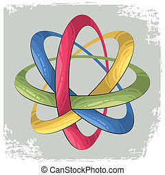 Science symbol as for rings