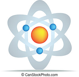 science symbol for discovery and planets gravity and oull