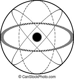 science, symbole, atomique