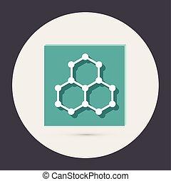 science, symbole, chimique, chemistry., compound., icône