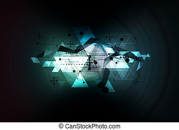 science technology background illustration