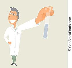 science, tube, /, scientifique, tenue, essai