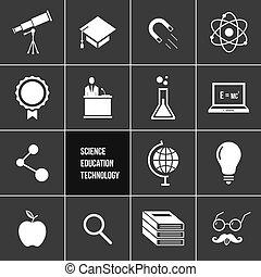 science, vecteur, education, techno