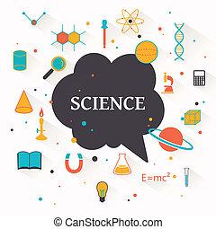 science, vecteur, fond