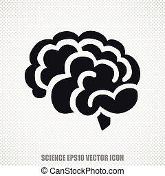 Science vector Brain icon. Modern flat design.