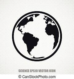 Science vector Globe icon. Modern flat design.