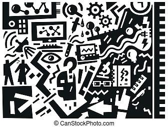 Science - vector illustration