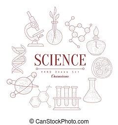 Science Vintage Sketch - Science Vintage Vector Hand Drawn...