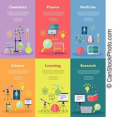 Science Web Banners Set