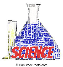 Science word cloud concept