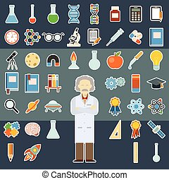 Sciense sticker icons