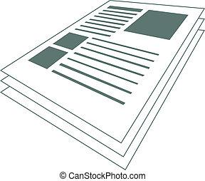 Scientific Articles - Vector illustration of a scientific...