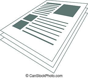 Vector illustration of a scientific article with images and text.